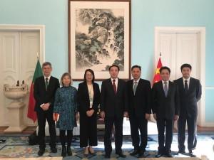 復委會交流團拜訪中華人民共和國駐葡萄牙大使館