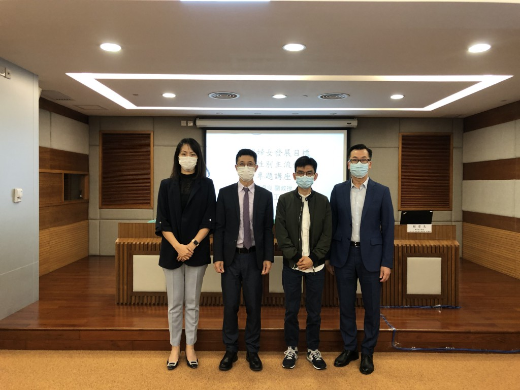韩卫副局长、罗健仪副局长、邓玉华副局长与赖伟良教授合照